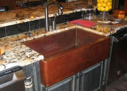 Sinks Are The Big Splash at Atlanta Street of Dreams 2007 ... on Kitchen Farmhouse Granite Countertops  id=29125