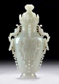 White jade vase sets a new record for Elder's Antiques closing at $291,600.