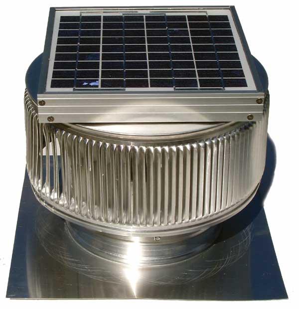 Aura Solar Attic Fan adds solar panel to exhaust 24/7