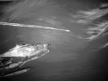 UFO Streaks Past F-86 Fighter