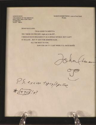 John Lennon's signed letter, 1971