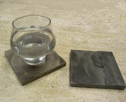 Natural slate introduces the drink coaster to the outdoors pebbleart stone coasters prlog - Slate drink coasters ...