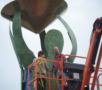 """""""Water Spirits"""" 32 feet tall waterfront sculpture, Rochester, NY, Unveiling"""