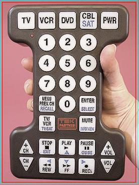 Oversized Big Button 4 Device Universal Remote Control