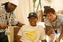 Russell Simmons with 4Q Creative Director and VP