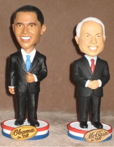 ElectAHead.com's Barack Obama and John McCain Bobbleheads
