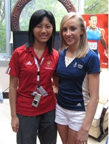 ACS Sandy Tang with Nastia Liukin (right), 2008 Olympic gold medallist