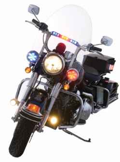 10124435 police motorcycle with motolight wig wag light system