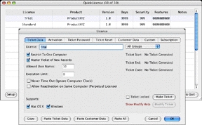 QuickLicense on Mac OS X