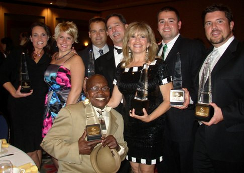 Brock Built team members at 2008 OBIE Awards