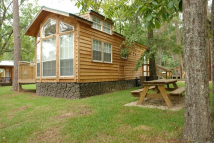 One of the lovely, fully modern cabins at Trail's End Resort and Marina