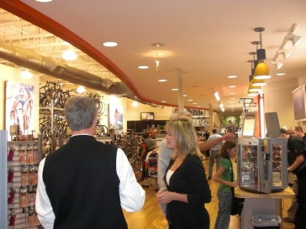 Interior of PV Bicycle Center in Palos Verdes California