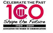 Association for Women in Communications Centennial Logo