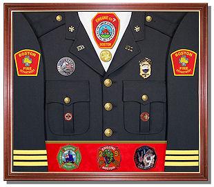 Firefighters Uniform Display Case