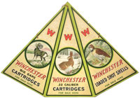 Rare Winchester three-panel triangle mobile-style die-cut poster ($13,080).