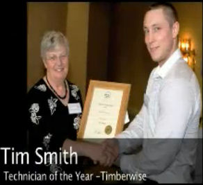 Tim Smith of Timberwise receives his award