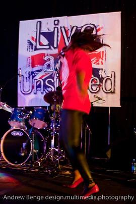 Menoosha and her band at the Live and Unsigned area finals by Andrew Benge