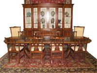 Sheraton-style dining room suite, made within the last 20 years ($11,550).