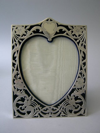 Newly Acquired Antique American Sterling Heart Shaped Frame ...