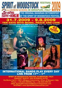 Spirit of Woodstock Festival 2009 Concert Poster