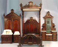 This 5-piece Mitchell & Rammelsberg bedroom suite (circa 1860) sold for $51,700.