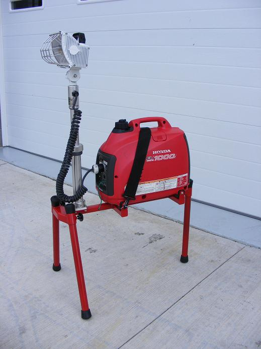 New Portable Generator Scene Lights Built By Firefighters
