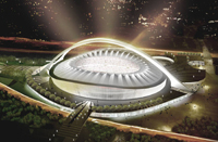 Birdair is serving as roofing sub-contractor for Durban Stadium's tensile roof.