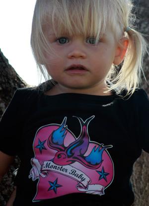 Monster Baby Little Birdy Tee