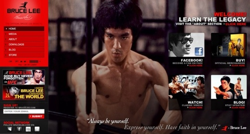 BruceLee.com Website pic