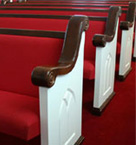 Church Pews, Church Furniture, Courthouse Seating