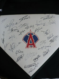 2009 Los Angeles Angels Team-Signed Base