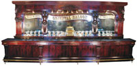 This monumental front and back bar made circa 1893 brought $302,500, a record.