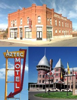Iconic Historical Sites - New Mexico: Belen Hotel, Montezuma Castle, Aztec Motel