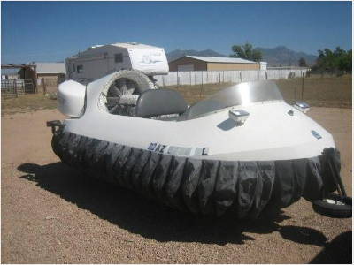The auction will feature 230 trailers, but also this 2003 Neoteric Hover-Craft.