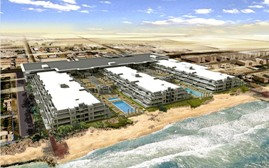 An artist's impression of Sunset residences on Jumeirah Beach road