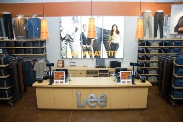 Energy Efficient LED Light Box at Lee Jeans
