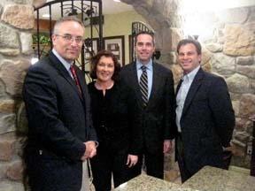 Toll Brothers' Greg LaGreca & John Mangano;Ellen Saracini;Rep Steve Santarsiero