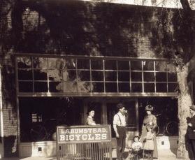 Original Bumstead's Bicycle Shop circa 1909