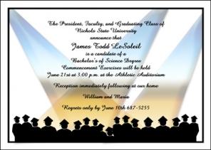 College Graduation Invite