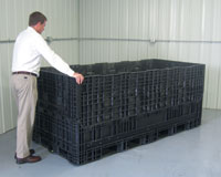 Custom Dimension Bulk Containers and Hand Totes