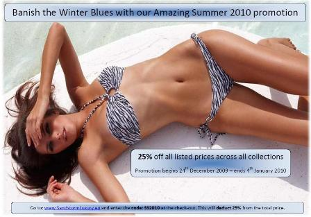 Banish the winter blues with Sandstorm Boutique 2010 promotion