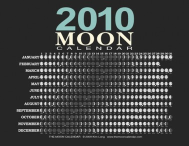 moon phases 2010  calendar