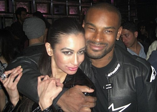 Farah Zulaikha and Tyson Beckford pictured at SL Lounge in NYC 10/30/09