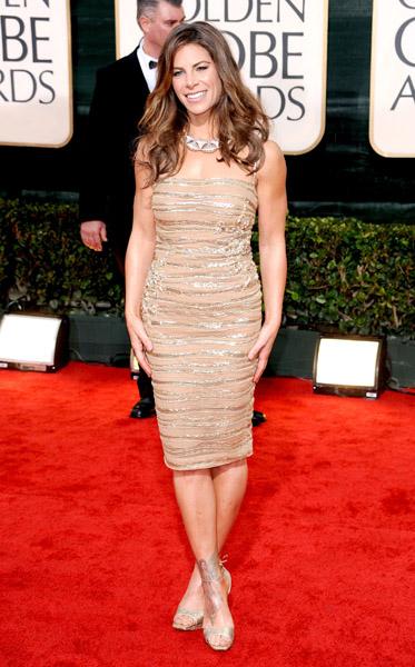 Jillian Michaels in a Jean Fares Couture dress