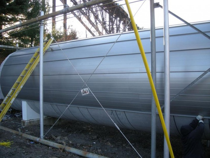 Central Hudson Gas & Electric propane tank after Thermablok installation