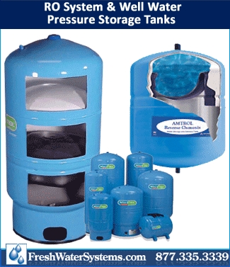 Reverse Osmosis System Well Water Storage Tanks