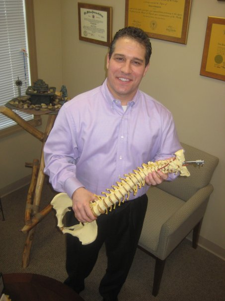 Dr. David M. Potter in his office at Network Chiropractic, North Brunswick, NJ