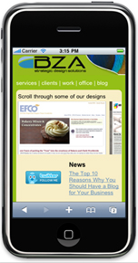 BZA's Mobile Web Design Services
