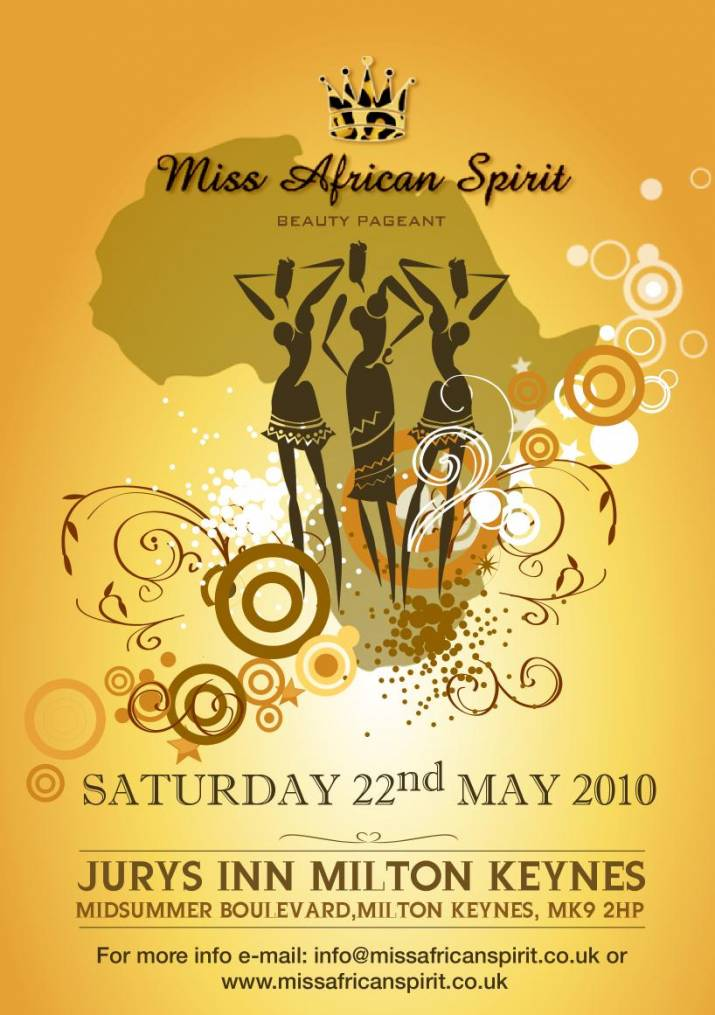 Miss African Spirit Pagent Poster