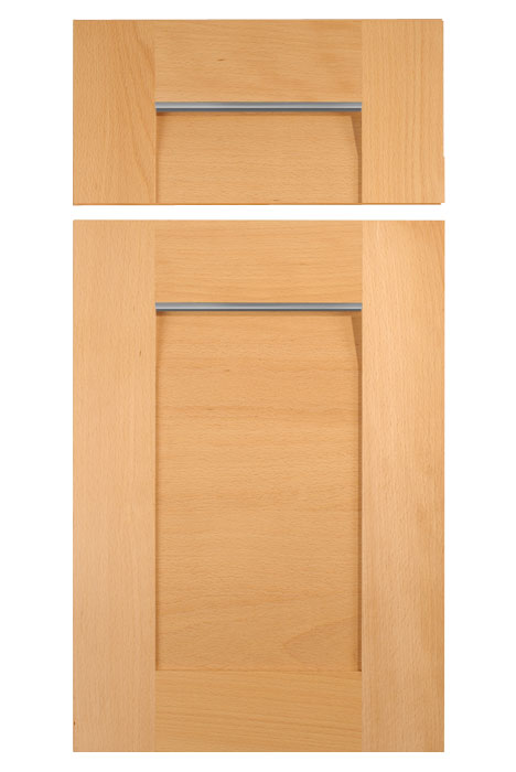Contemporary Wood Cabinet Door with Aluminum Pull Handle